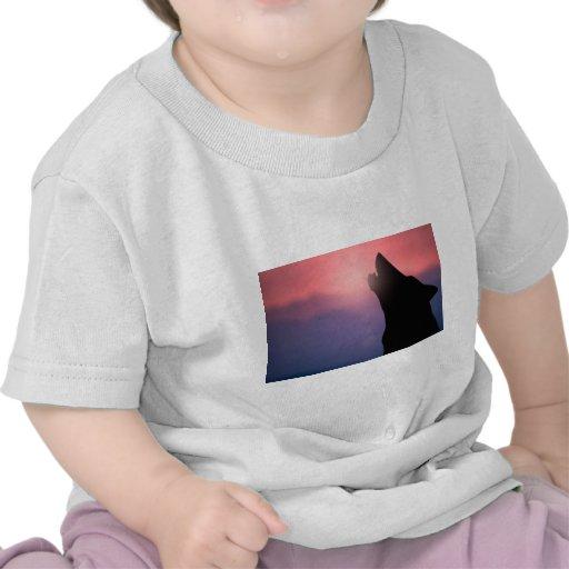 Wolf Howl Sunset T-shirt