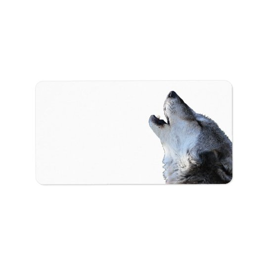 wolf howling address label