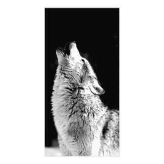 Wolf Howling at Moon Picture Card