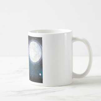 Wolf Howling at Moon Spray Paint Art Painting Coffee Mug