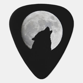 Wolf Howling at The Full Moon Plectrum