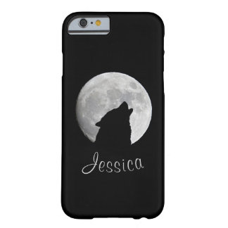 Wolf Howling at The Full Moon, Your Name Barely There iPhone 6 Case