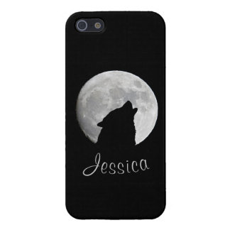 Wolf Howling at The Full Moon, Your Name Cover For iPhone 5/5S