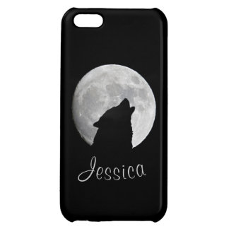 Wolf Howling at The Full Moon, Your Name iPhone 5C Cover