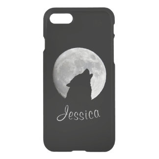 Wolf Howling at The Full Moon, Your Name iPhone 8/7 Case