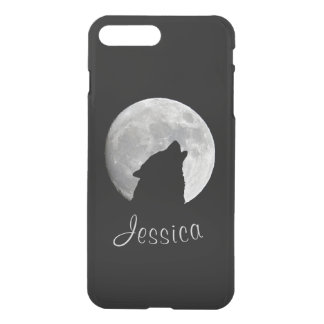 Wolf Howling at The Full Moon, Your Name iPhone 8 Plus/7 Plus Case