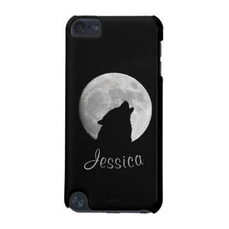 Wolf Howling at The Full Moon, Your Name iPod Touch (5th Generation) Case
