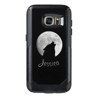 Wolf Howling at The Full Moon, Your Name OtterBox Samsung Galaxy S7 Case