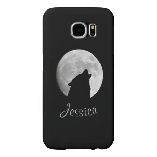 Wolf Howling at The Full Moon, Your Name Samsung Galaxy S6 Cases