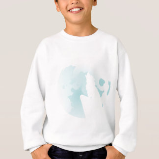 Wolf Howling at the Moon 2 Sweatshirt