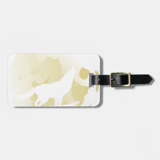 Wolf Howling at the Moon 3 Luggage Tag