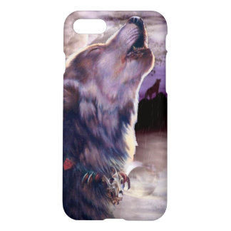 Wolf Howling at The Moon iPhone 7 Case