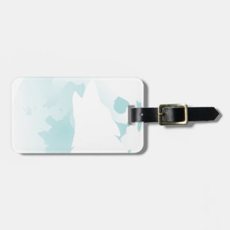 Wolf Howling at the Moon Luggage Tag