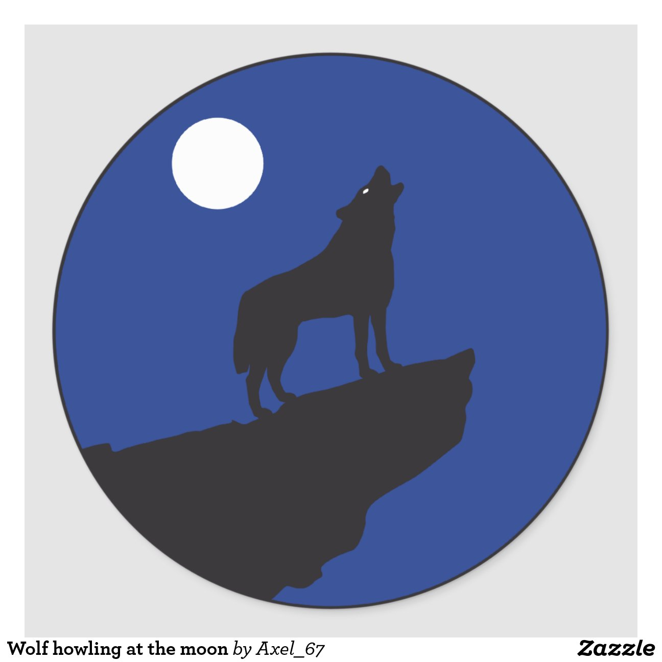 Wolf howling at the moon round How To Draw A Wolf Howling At The Moon