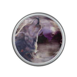 Wolf Howling at The Moon Speaker