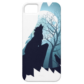 Wolf Howling with Forest2-01 Case For The iPhone 5