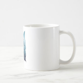 Wolf Howling with Forest2-01 Coffee Mug