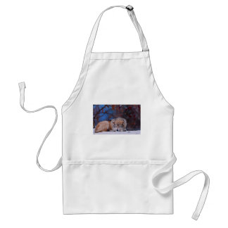 Wolf Hunts In The Snow Standard Apron
