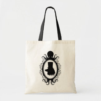 Wolf in a Top Hat Cameo With Octopus Frame Tote Bag