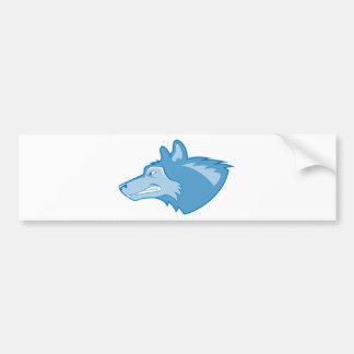 Wolf in Blue Bumper Sticker
