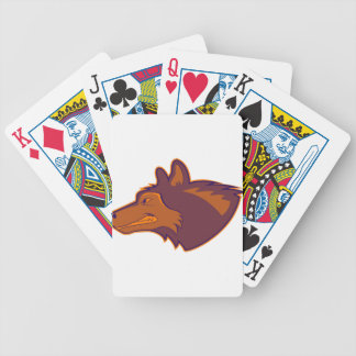 Wolf in Retro Orange Bicycle Poker Cards