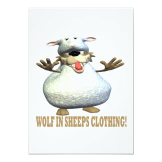 Wolf In Sheeps Clothing 13 Cm X 18 Cm Invitation Card