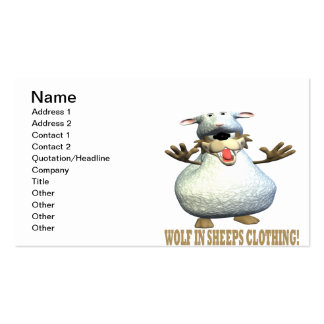 Wolf In Sheeps Clothing Business Card