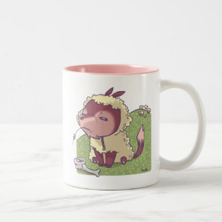 Wolf in Sheep's clothing Two-Tone Coffee Mug
