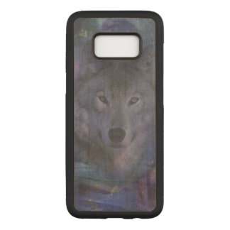 Wolf in the Moonlight Carved Samsung Galaxy S8 Case