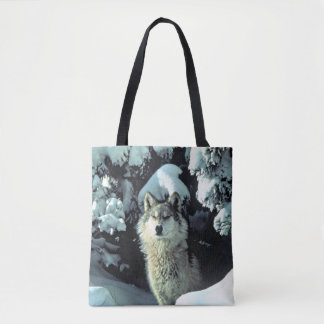 Wolf in the Snow Tote Bag