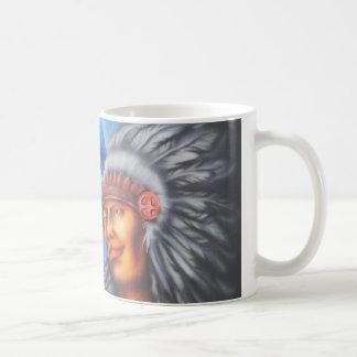 Wolf & Indian Coffee Mug