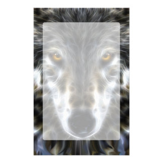 Wolf Inspirational graphic Portrait Stationery Paper