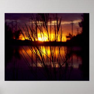 Wolf Lake Sunset Poster