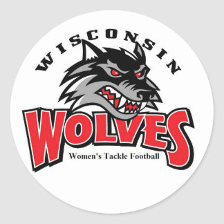 Wolf logo classic round sticker