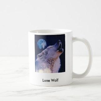 wolf, Lone Wolf Basic White Mug