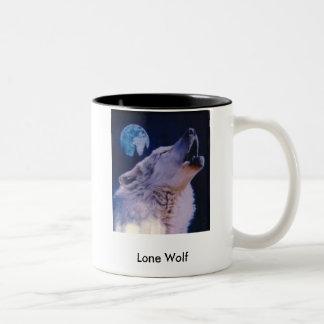wolf, Lone Wolf Two-Tone Mug