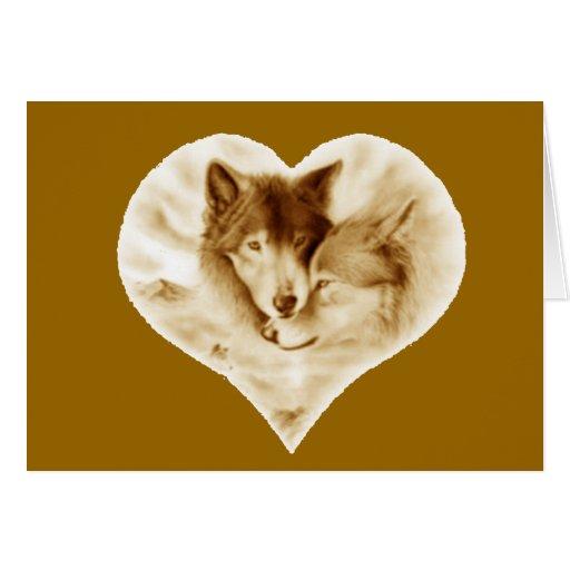 Wolf Love Greeting Card
