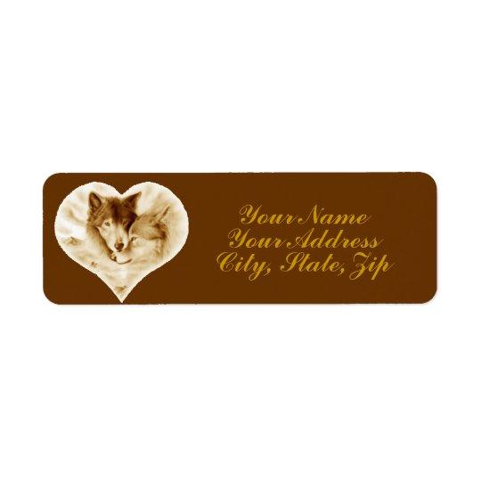 Wolf Love Return Address Label