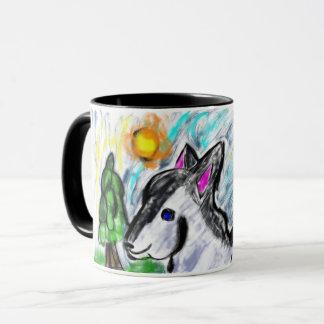 wolf love sun mug