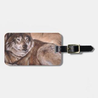 Wolf Luggage Tag