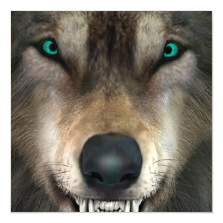 Wolf Magnetic Invitations