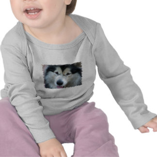 Wolf Malamute Picture Infant Tees