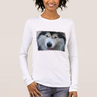 Wolf Malamute Picture Long Sleeve T-Shirt