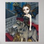 Wolf Manor gothic vampire fairy Art Print