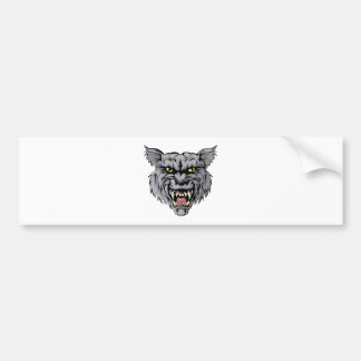Wolf mascot character bumper stickers