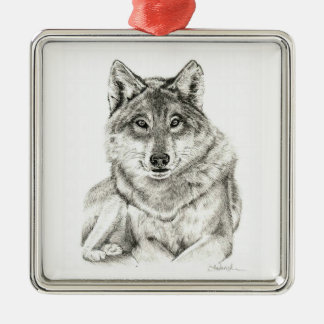 Wolf Metal Ornament