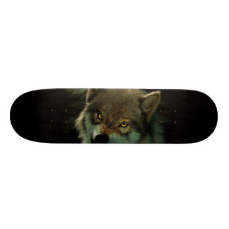 Wolf moon 21.6 cm old school skateboard deck