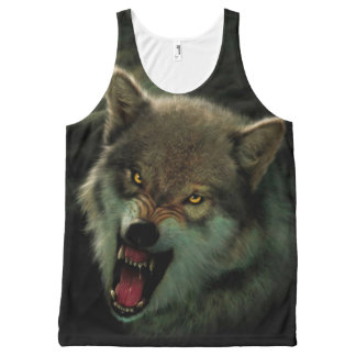 Wolf moon All-Over print tank top