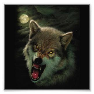 Wolf moon art photo