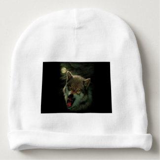 Wolf moon baby beanie